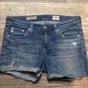 AG Adriano Goldschmied Distressed Jean Shorts